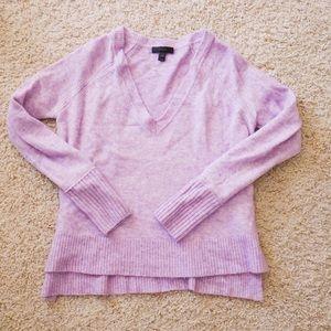 J.Crew Purple V neck oversized sweater